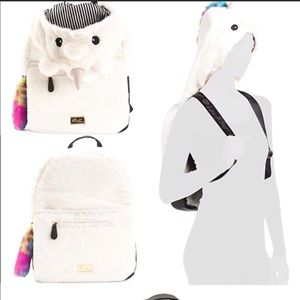 Betsey Johnson Unicorn Hoodie Backpack